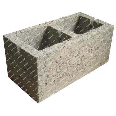 Блоки керамзитобетонные 390х190х188 (2-х пустотные)