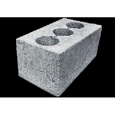 Блоки керамзитобетонные 390х190х188 (3-х пустотные) М75/F50