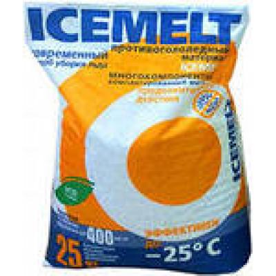 Противогололедный реагент ICEMELT ХКНМ -25°С (25 кг)