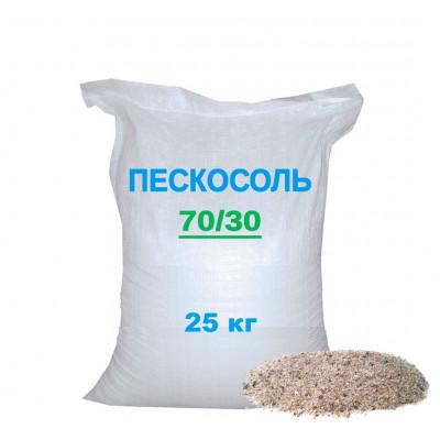 Пескосоль (соль с песком) смесь противогололедная 25 кг