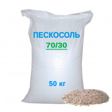 Пескосоль (соль с песком) смесь противогололедная 50 кг