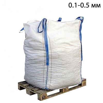 Пескоструйный песок окатанный фр. 0,1-0,5 в МКР (1т)