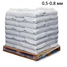 Пескоструйный песок фр. 0,5-0,8 в мешках (25кг) из Рязанской области