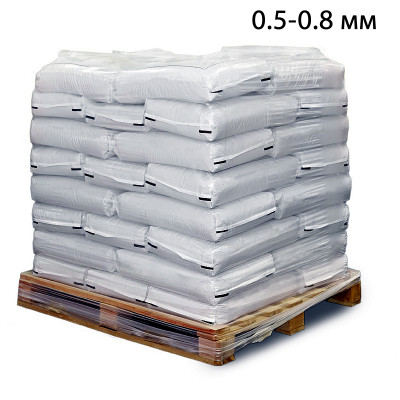 Пескоструйный песок окатанный фр. 0,5-0,8 в мешках (25кг)