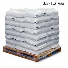 Пескоструйный песок дробленый фр. 0,5-1,2 в мешках (25кг)