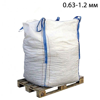 Пескоструйный песок окатанный фр. 0,63-1,2 в МКР (1т)