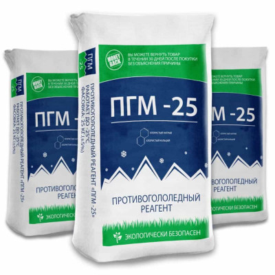 Противогололедный реагент ПГМ -25°C (25кг)
