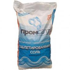 Соль таблетированная ПромСалт (меш. 25 кг) для фильтров умягчения воды